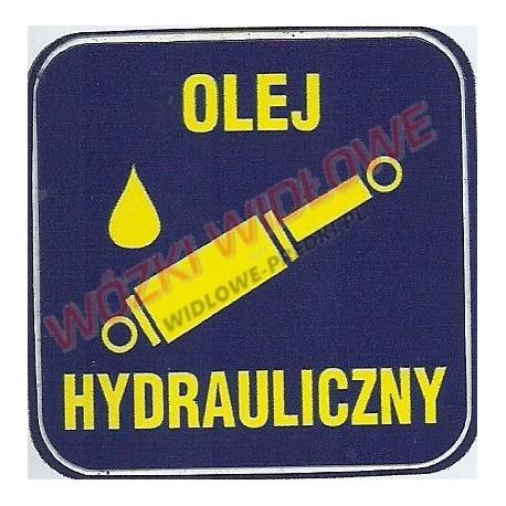 naklejka informacyjna olej hydrauliczny