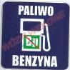 naklejka informacyjna benzyna